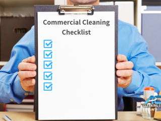 30 Point Commercial Cleaning Checklist For A Clean Office