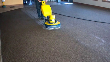 Carpet cleaning in a commercial facility