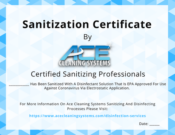 Certification Page- Sanitization Certifi