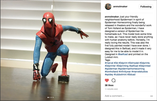 3d printed spiderman