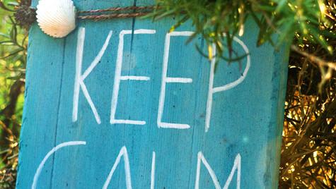 keep calm... Projekt Garten