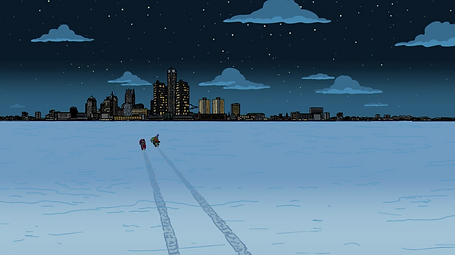 Frozen River referenced by The Simpsons.