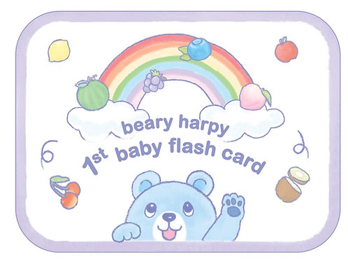 Beary Harpy 1st Baby Flash Card