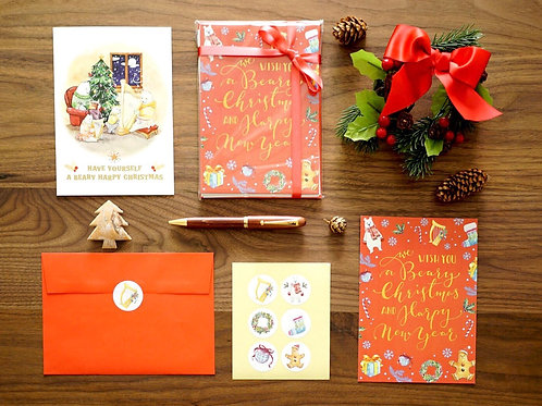 Beary Harpy Christmas Card Set