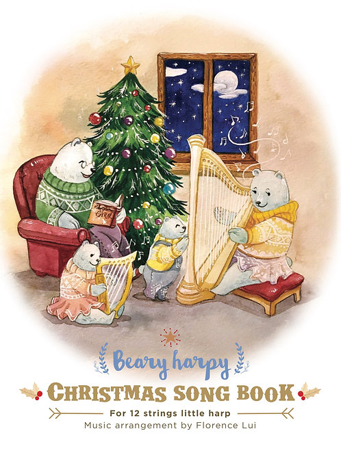 Beary Harpy Christmas Song Book 2017 (PDF score)