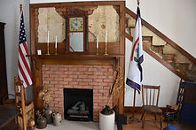 Fireplace and stairs