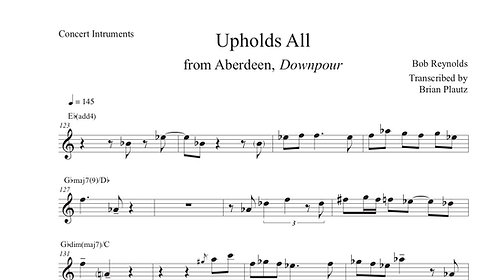 """""""Upholds All"""" Solo Transcription"""