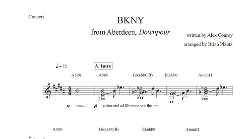 """BKNY"" Solo Transcription"