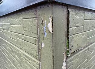 傷んだ外壁