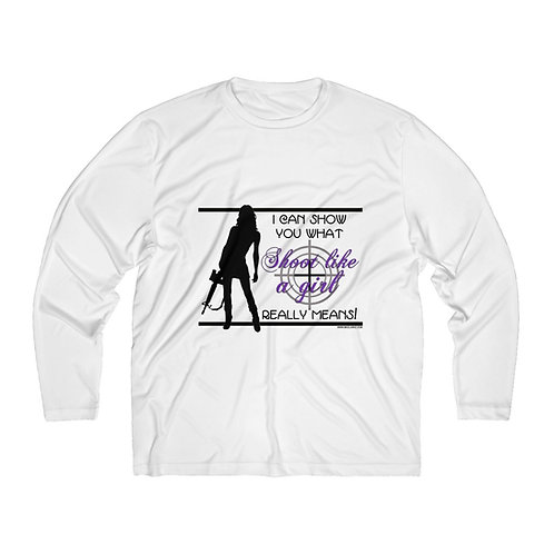 Men's Long Sleeve Shoot Like a Girl Tee