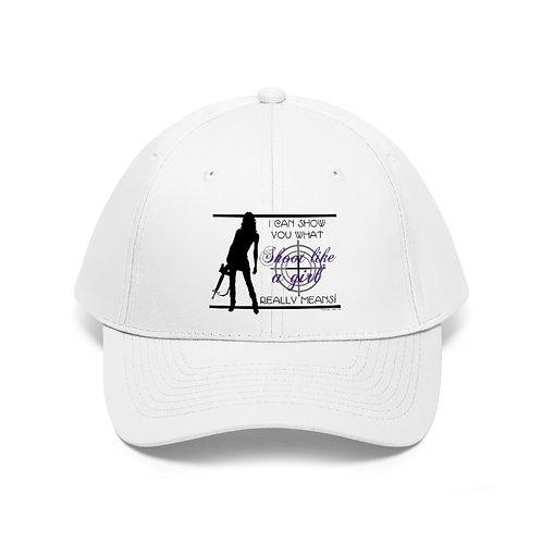 Shoot Like a Girl Unisex Twill Hat