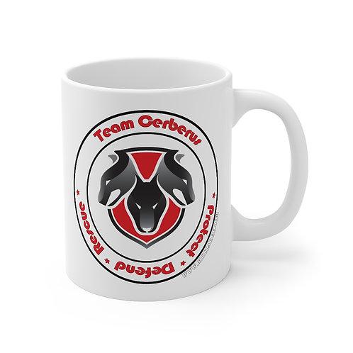 Team Cerberus Logo 11oz White Mug