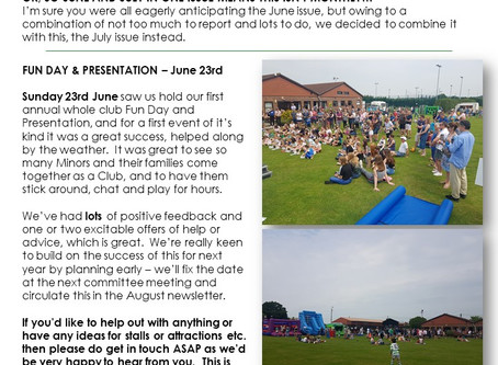 June & July News...