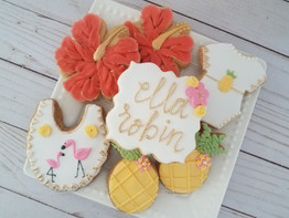 Tropical Baby Shower Set
