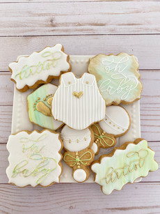 Watercolor & Gold Baby Shower Set