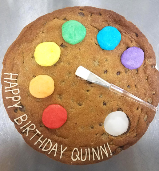 Palette Cookie Cake - $38