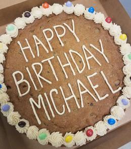 Cookie Cake w/ M&M Border - $33