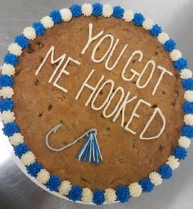 Cookie Cake + Custom Figure + Alternate Icing Border $38