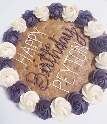 Cookie Cake + Extra Icing Rosette Border + Alt. Icing Border - $36