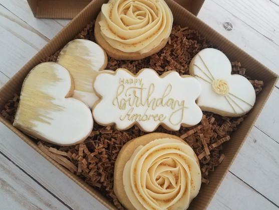 Gold & White Birthday Set