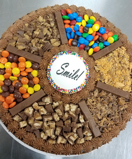 Candy Cake w/ Custom Message - $45