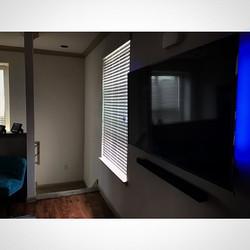 Welcome Home _omann713 _W🔩O📺R🔌K🔨 #wallmountit #Houston #home #theater #custom #tv #install #moun