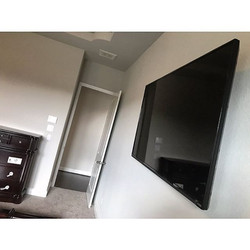 Welcome Home __shyanne__ _W🔩O📺R🔌K🔨 #wallmountit #Houston #home #theater #custom #tv #install #mo