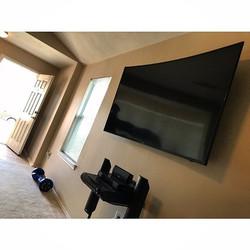 Welcome Home _blackisbak__W🔩O📺R🔌K🔨 #wallmountit #Houston #home #theater #custom #tv #install #mo