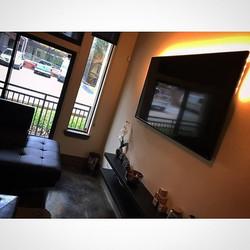 Welcome Home _flyguyhouston713 _W🔩O📺R🔌K🔨 #wallmountit #Houston #home #theater #custom #tv #insta
