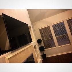 Welcome Home _trilly_brasco _W🔩O📺R🔌K🔨 #wallmountit #Houston #home #theater #custom #tv #install