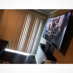 Welcome Home _itskingweezy _W🔩O📺R🔌K🔨 #wallmountit #Houston #home #theater #custom #tv #install #