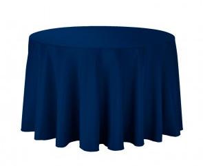 "108"" Navy Blue Tablecloth"