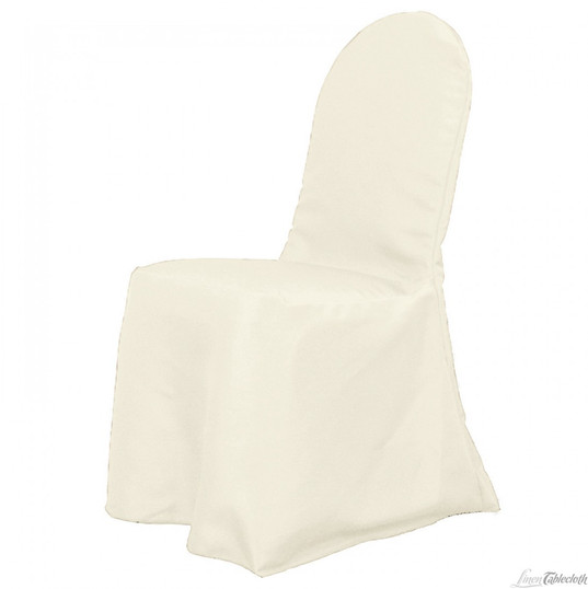 Ivory Banquet Poylester Chair Cover
