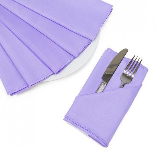 "20"" Lavender Polyester Napkins"