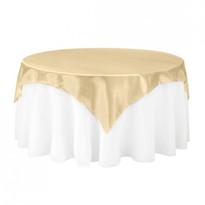 Gold Satin Table Overlay