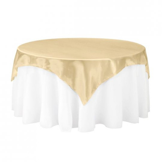 Gold Satin Table Overlay