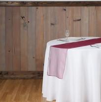Burgundy Organza Table Runner