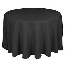 """108"""" & 120"""" Black Tablecloths"""