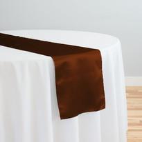 Brown Satin Table Runner