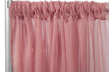Dusty Rose Sheer Curtain