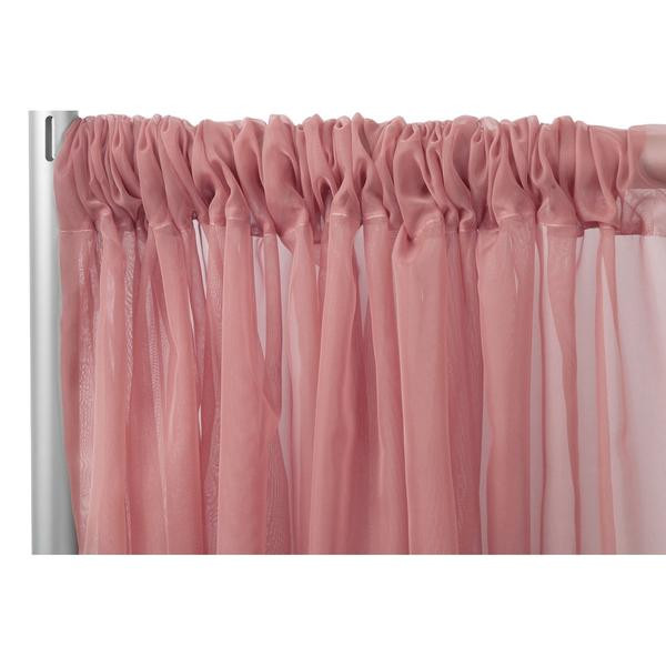 Dusty Rose Sheer Curtain
