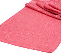 Coral Sequins Table Runner