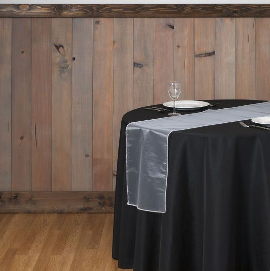 Ivory Organza Table Runner