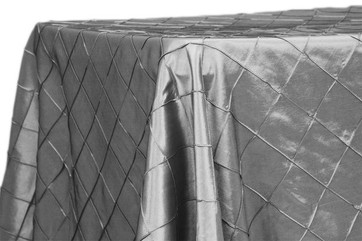 """90x132"""" Silver Pintuck Tablecloth"""