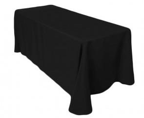 "90x132"" Black Tablecloth"