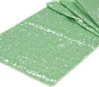 Mint Green Sequins Table Runner