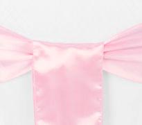 Medium Pink Satin Chair Sash