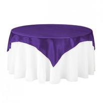 Purple Satin Table Overlay