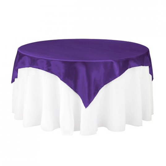 Purple Satin Table Overlay