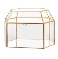 Gold Glass Card Box
